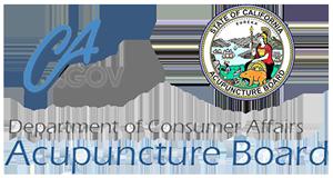 California Department of Consumer Affairs Acupuncture Board